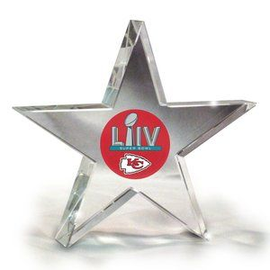 KC Chiefs Super Bowl 2020 Crystal Star Paperweight